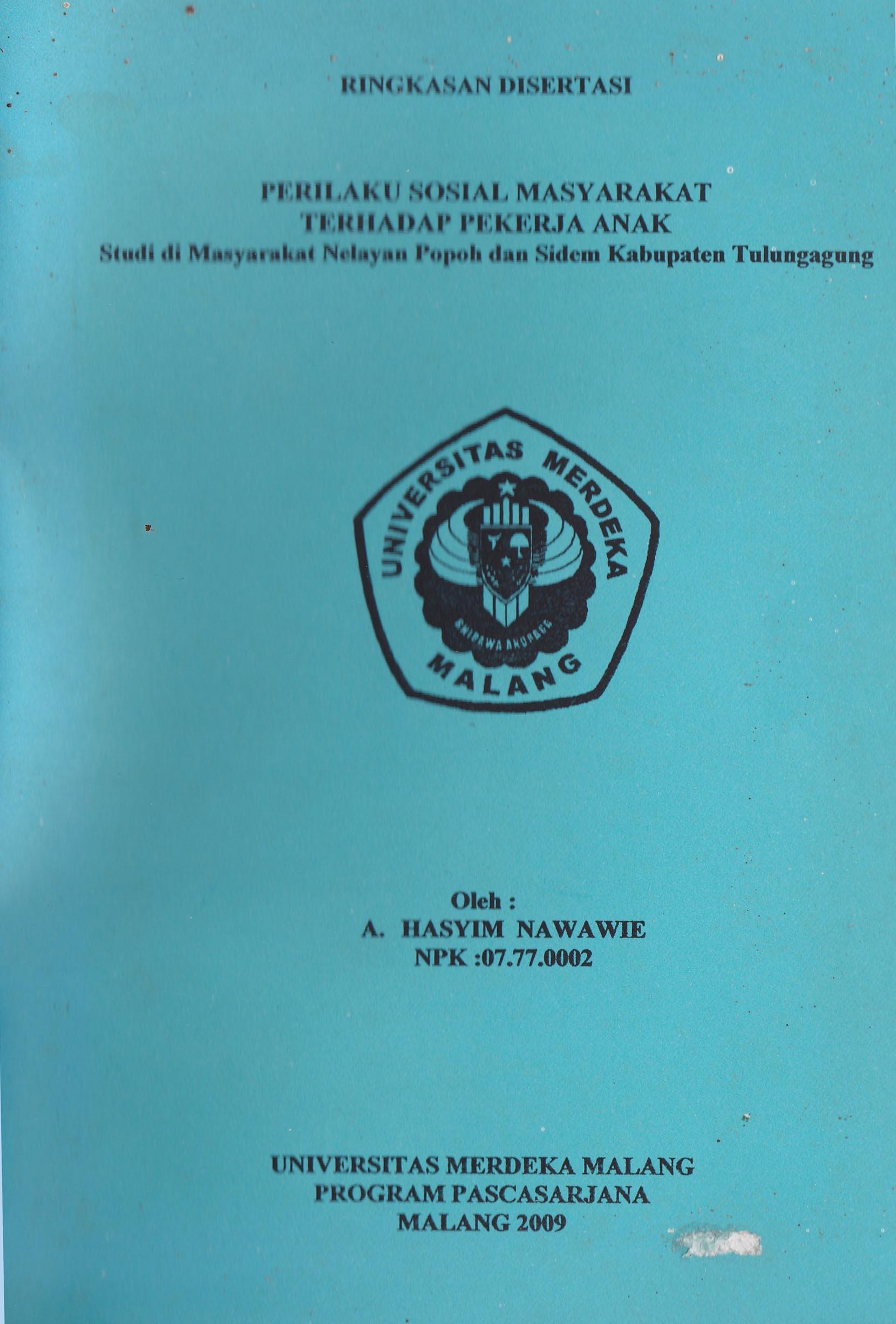 Disertasi Hasyim Nawawie