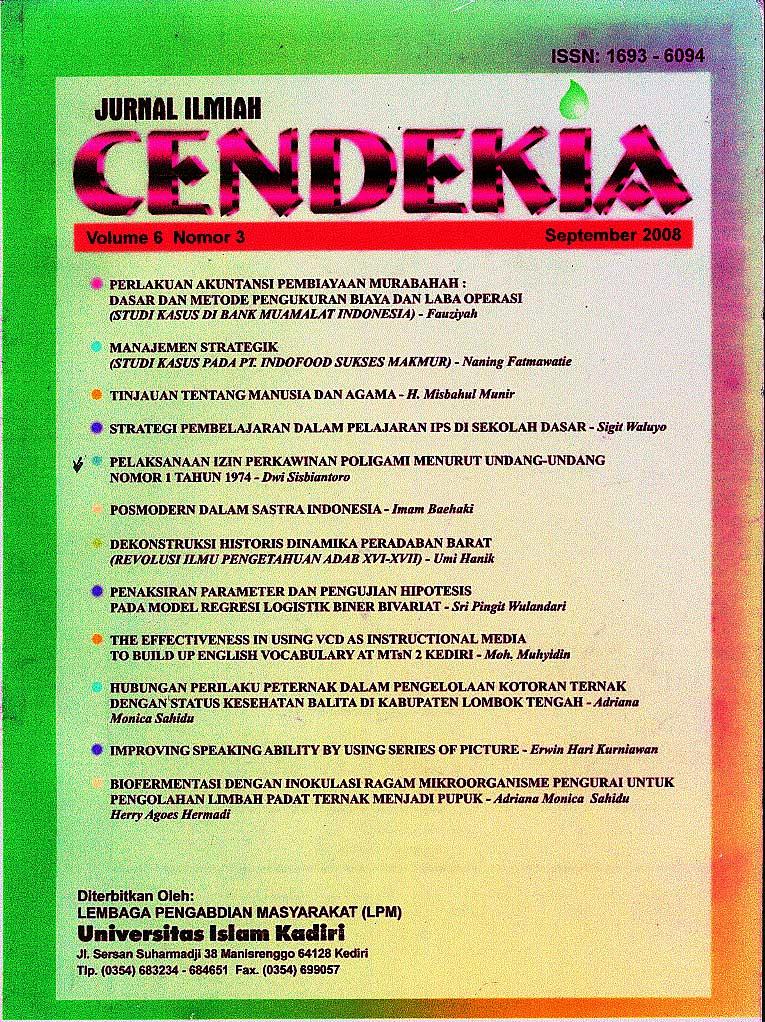 Cendekia Volume 6 Nomor 3 September 2008
