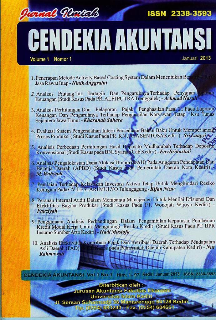 Cendekia Akuntansi Volume 1 Nomor 1 Januari 2013