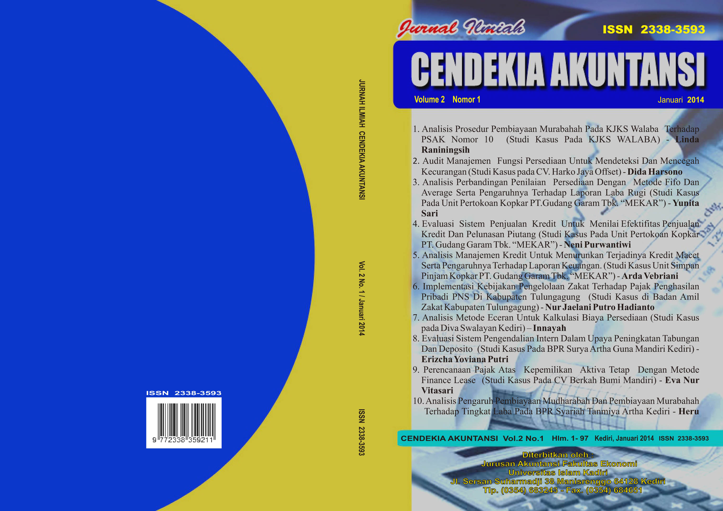 Cendekia Akuntansi Vol 2 No 1 Januari 2014