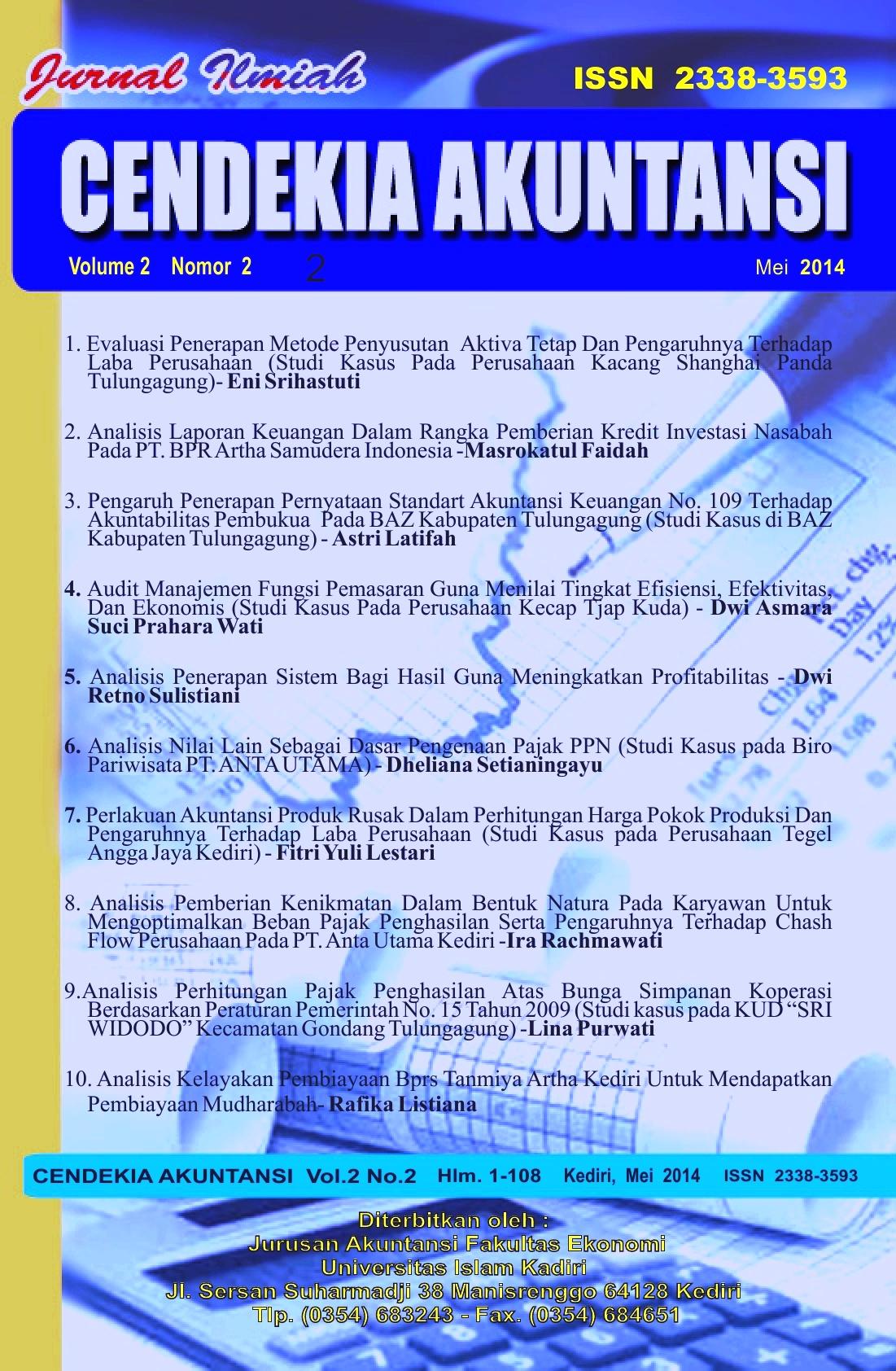 Cendekia Akuntansi Vol.2 No.2 Mei 2014